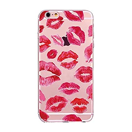 Amazon com: Pink Red Lipstick Themed iPhone X Case Pretty Lips