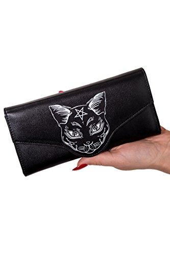 (Gothic Pentagram Witch Cat Nemesis Wallet from Banned Apparel - Black/One Size)