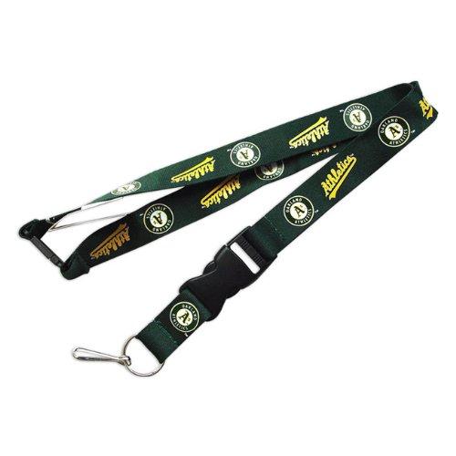 aminco Oakland A's Athletics Clip Lanyard Keychain Id Ticket - Green