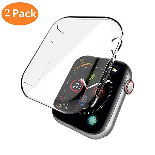 Price comparison product image Apple Watch 4 Case, Apple Watch 44mm Case, Teayoha Soulmate Series PC iWatch Screen Protector Clear Cover for Apple Watch Series 4 (44mm)-2 Pack