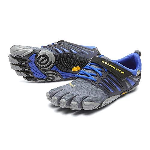 Vibram Women's V-Train Gold's Gym Cross Trainer, Black/Grey/Reflex Blue, 40 B EU (8.5-9 US) (Best Vibram Shoes For Crossfit)