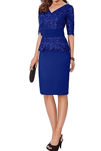 Kurz Abendkleider Spitze Blau Knielang Royal mia Traube Elegant Braut Etuikleider Brautmutterkleider Abschlussballkleider La Promkleider wxARXqaHH