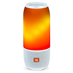 JBL PULSE 3 WHITE Pulse 3 Wireless Bluetooth IPX7 Waterproof Speaker (White)