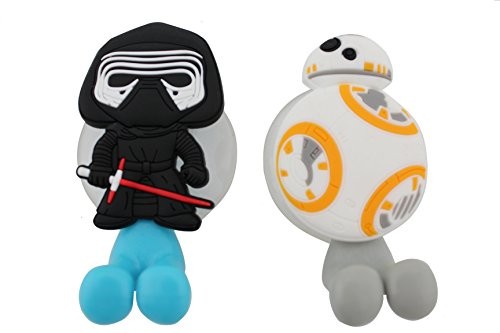 Finex Set of 2 STAR WARS Kylo Ren & BB-8 Droid Toothbrush Ho