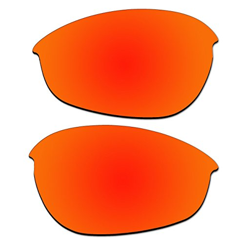 Replacement Fire Red Polarized Lenses for Oakley Half Jacket 1.0 Sunglasses (Not Fit XLJ and - Jacket Half Oakley Lenses Xlj 2.0