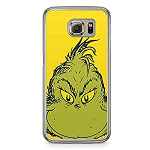 Loud Universe Grinch Face Scary Samsung S6 Case Classic Book Samsung S6 Cover with Transparent Edges