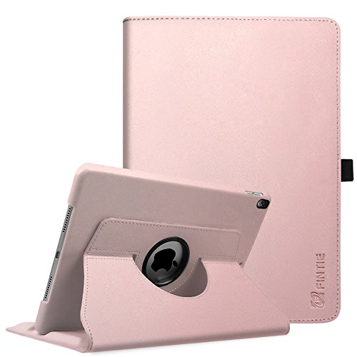 Fintie iPad Pro 10.5 Case - 360 Degree Rotating Stand Protective Cover with Auto Sleep/Wake Feature for Apple iPad Pro 10.5 Inch 2017 Tablet, Rose Gold