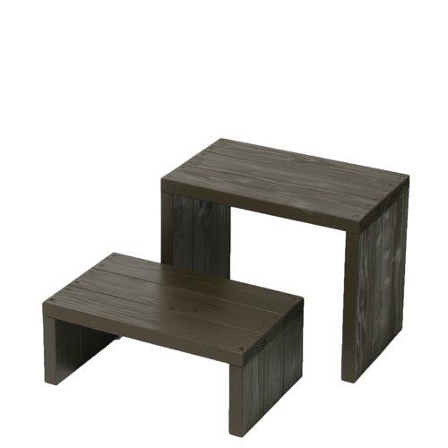Welcome wood ウッドステージWSW452LM-UB 2段ワイドタイプ  色はUB アンバーブラウン  【完成品】 組み立てる必要なし。  個別に移動できるのでとっても便利。 B00FEX36J0 (UB)アンバーブラウン (UB)アンバーブラウン
