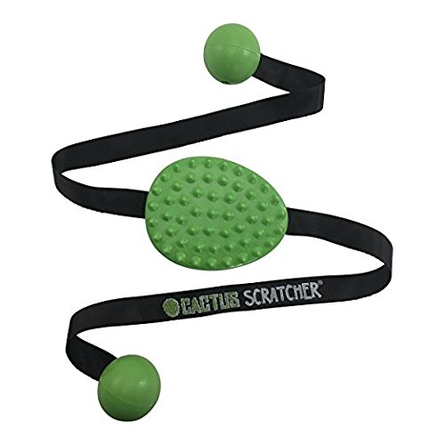 Original Cactus Back Scratcher (GREEN) | 2 Sides: Agressive and Moderate | Perfect Travel Back...
