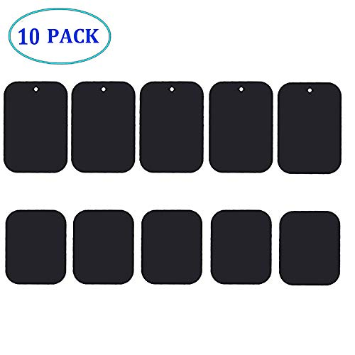 Chanfee 10Pack Metal Plate for Magnetic Phone Car Mount Holder Cradle with Strong Adhesive ()