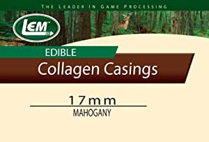 LEM Products Smoked Mahogany Edible Collagen Casing (17mm)