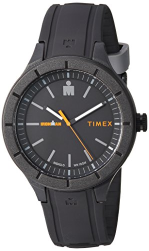 (Timex TW5M16900 Ironman Essential Urban Analog 42mm Gray/Orange Silicone Strap Watch)