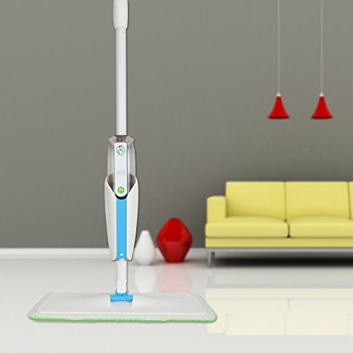 MangGou Microfiber Floor Mop, Professional 360 Degree Microfiber Spray Mop Kit, Handle Cleaning Mop with Hybrid Carbon Microfiber for House, Kitchen, Hardwood, Tile Floor Cleaning by MangGou (Image #2)