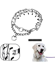 Prong Collar for Dogs – Pinch Collar for Dogs – 4mm24in (XL) – Dog Training Collar for All Dogs – Adjustable Stainless-Steel Links with Comfort Rubber Tips – Dog Choker Collar for Medium Large Dogs