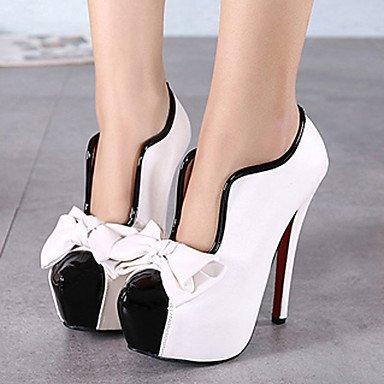 Le donne eleganti sandali SEXY DONNA PRIMAVERA tacchi altri abito pu Stiletto Heel Bowknot nero rosso bianco , nero , us5.5 / EU36 / uk3.5 / CN35