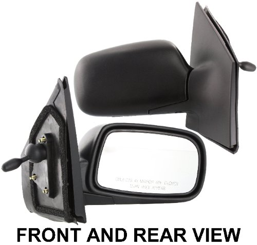 (ECHO 00-05 SIDE MIRROR RIGHT PASSENGER, Manual Remote, Black, Flat Glass )