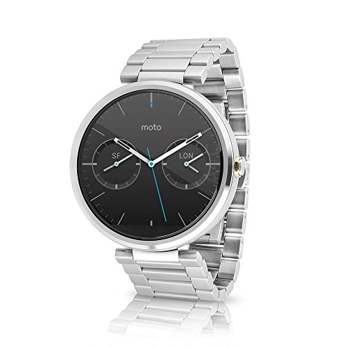 Motorola Moto 360 Smartwatch w/ 23mm Metal Band - Silver (Certified Refurbished) by Motorola
