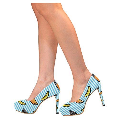 D-verhaal Mode Damesschoenen Stiletto Hoge Hak Pumps Veelkleurig20