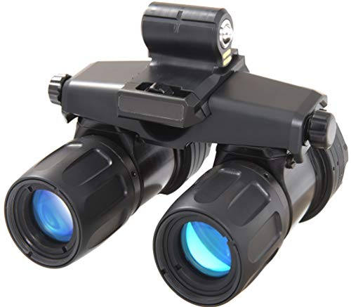 """AGM 12AA9123353011 Model Apache A9 Aviator Gen 3""""Level 1"""" Night Vision Goggle System, 1x Magnification, 40 Field of View, 1.3cy/mR System Resolution, 10 Tilt Adjustment, Focus Range 25cm to Infinity"""