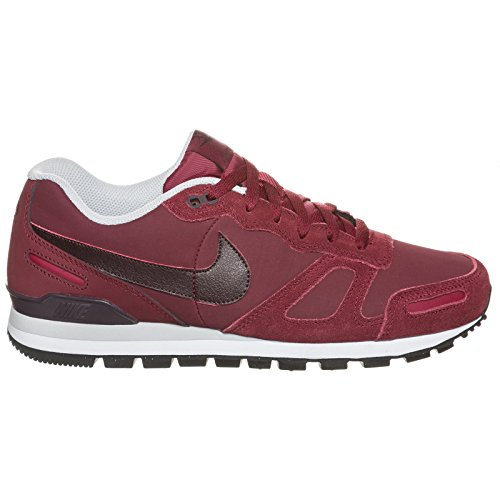 [454395-661] NIKE AIR WAFFLE TRAINER LEATHER MENS SNEAKERS NIKETEAM RED DEEP BURGUNDY PURE PLATINUMM