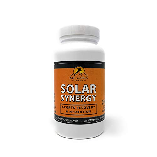 MT. CAPRA SINCE 1928 Solar Synergy Electrolyte and Sports Recovery Hydration Powder, Boost Athletic Performance, Combat Dehydration with 9 Superfruits – 210 grams