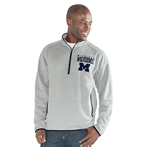 NCAA Herren 1 auf 1 Quarter Zip Fashion Top, herren, 1 on 1 Quarter Zip Fashion Top, grau meliert, Medium