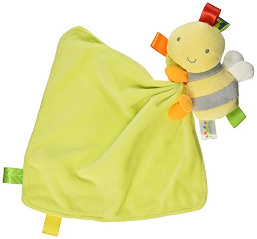 Bumble Bee Rattle - Taggies Bumble Bee Plush Security Blanket, Yellow/Lime