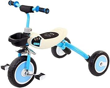 JINHH Plegable Triciclo, Kid Equilibrio del Coche De Bicicletas Niños Triciclo Multifunción Kid Carro a Caballo Y Arrastrando Adecuado para Niños Y Niñas De 1/3/6