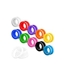 10 Pairs Assorted Color Acrylic Screw Tunnel Ear Plugs Piercing Set Body Jewelry