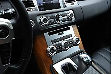 MAVMAX ABS Chrome Central Control CD Panel For Range Rover Sport RR Sport 2012-2013 silver