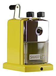 SharpTank Portable Pencil Sharpener (Honey Bee) | Compact & Quiet Classroom Sharpener That Gets Straight to the Point!