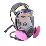 Full Face Respirator Gas Mask Anti-dust Chemical Safety Mask with Cotton Filter for Industry Painting Spraying