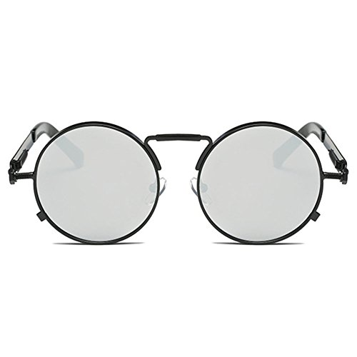 ce24b20c88 hibote Redondas Retro Gotico Steampunk Gafas de sol UV400 Durable Modelando