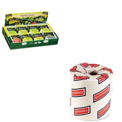 KITBTC30568BWK6180 - Value Kit - Bigelow Green Tea Assortment (BTC30568) and White 2-Ply Toilet Tissue, 4.5quot; x 3quot; Sheet Size (Bigelow White Tea)