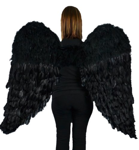 (Touch of Nature 11019 Adult Angel Wing in Black with Elastic Straps, 52 by)