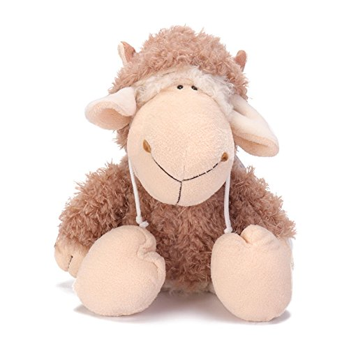 - LAS 14 Inch Dolly Sheep Stuffed Animal Plush Toys Doll for Kids Baby Christmas Birthday Gifts - Brown