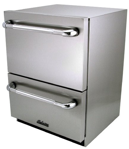 Solaire Solaire Outdoor-Certified Refrigerated 2-Drawer Unit, Stainless Steel Stainless Steel Outdoor Refrigerated Drawer