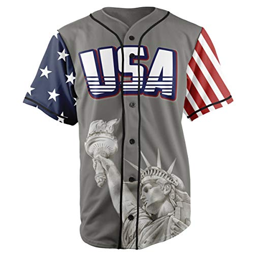 Greater Half Jersey: Liberty Edition Grey America #1 Jersey (L)