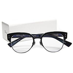 NEW Christian Dior Exquise O2 2XB BLACK/BLUET EYEGLASSES 50-18-145 B43mm Japan