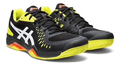 ASICS Gel-Challenger 12 Clay Men's Tennis Shoes, Black/Sour Yuzu, 11.5 M US