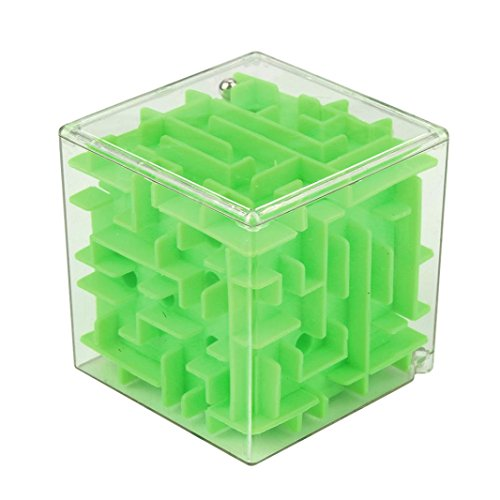 Antique Puzzle Box - Forthery Maze Cube, 3D Magic Cube Puzzle Box Sequential Puzzles as Christmas Gift Birthday Gift (Green)