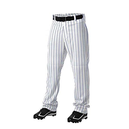 (Don Alleson 605WPN Baseball Uniform pin Stripe mensPANTS A Royal 2XL)