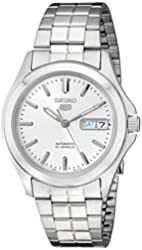 Seiko Men's SNKK87 Two Tone Stainless Steel Analog with White Dial Watch