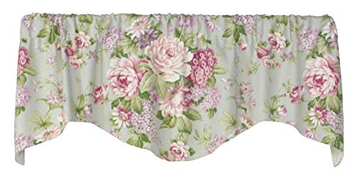 Milton 53 Inches Wide x 16 Inches Long Cotton and Polyester Lined Shaped Valance Curtain, Lilac (Lilac Valance Curtains)