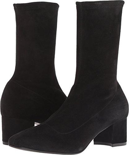 Aquatalia Women's Janine Stretch Suede Ankle Boot, Black, 6.5 M US