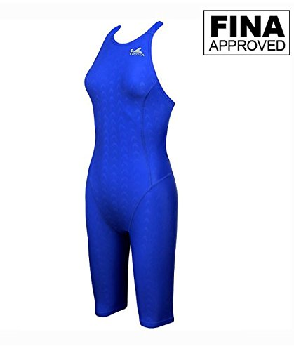 FINA Approved, YINGFA 925-2 Blue Women's Shark Scale Technical Swimsuits, Racer Pro, Racing Swimsuit - FINA Approved (Small/24-26) - Fina Approved Swimwear