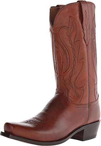 - Lucchese Since 1883 Men's Cole Squared Off Toe Cowboy Heel Boot,Tan Calf,US 9 D