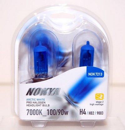 - Nokya H4 / 9003 Arctic White Stage 2 7000K Halogen Headlight / Fog Light Car Light Bulb Replacement