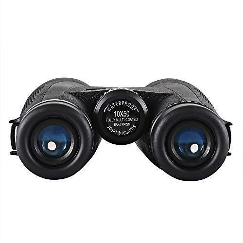 HD 10X50 Binoculars Low Light Level Night Vision Portable Waterproof Professional Binoculars Bak4 Prism Optics Zoom Telescope for Outdoor Hunting Concert,1042 ()