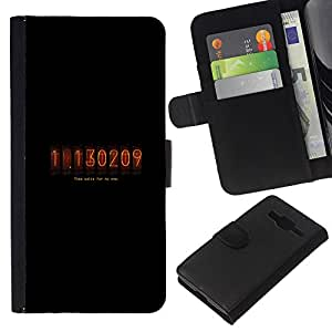 JackGot ( Nixie Cuenta atrás Tubo ) Samsung Galaxy Core Prime la tarjeta de Crédito Slots PU Funda de cuero Monedero caso cubierta de piel